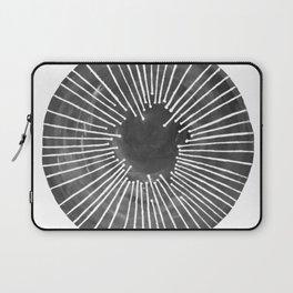 Black and White Circle Laptop Sleeve