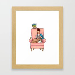 Reading fictional characters: Cath Framed Art Print