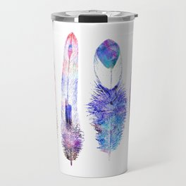 Boho Feathers Travel Mug