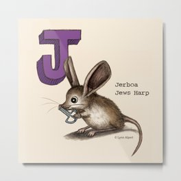 Animals & Instruments ABCs – J Metal Print