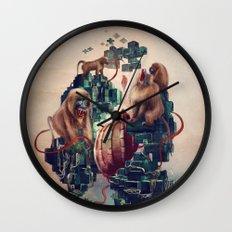 monkey temple Wall Clock