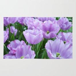Mauve tulips Rug