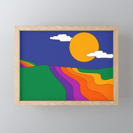 Rolling Hills Framed Mini Art Print