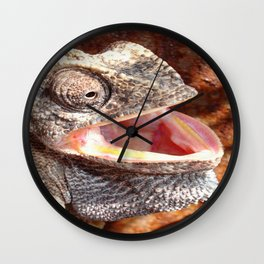 The Laughing Chameleon Wall Clock