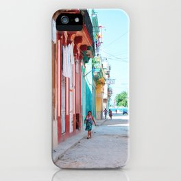 73. Havana walking, Cuba iPhone Case