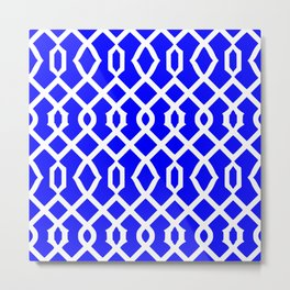 Grille No. 3 -- Blue Metal Print