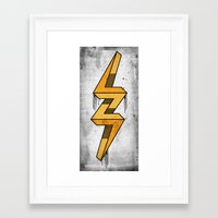 escher Framed Art Prints featuring escher bolt by Vin Zzep