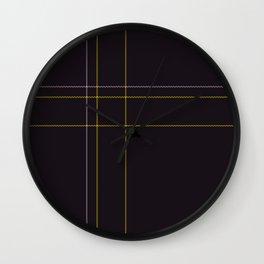 Dark Tartan Plaid Wall Clock