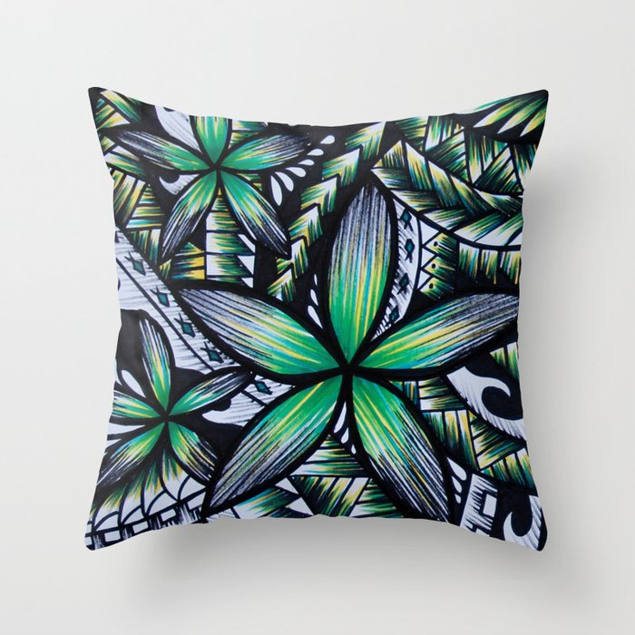 Samoan Green Machine Throw Pillow By Lonicaphotography Polydesigns