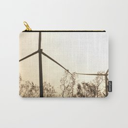 Sunrise with Wind Turbines  Carry-All Pouch