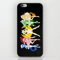 sailor moon iPhone & iPod Skins featuring Sailor Scouts / Sailor Moon by Sara Eshak