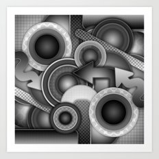 Monochrome Mayhem  Art Print