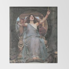 Circe Offering the Cup to Ulysses, John William Waterhouse Throw Blanket