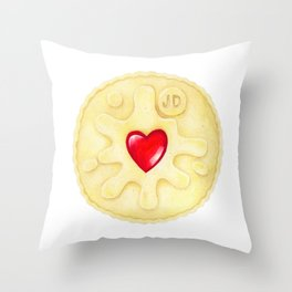 Jammie Dodger, Biscuit Throw Pillow