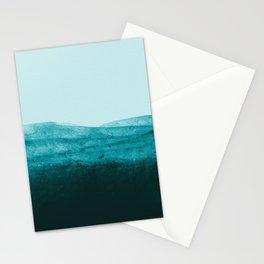 Aqua Watercolor Tide Stationery Cards