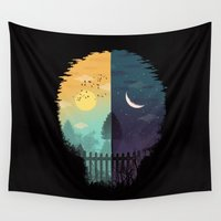 magritte Wall Tapestries featuring Embrace Life by dan elijah g. fajardo
