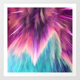 Colorful Space Explosion Art Print