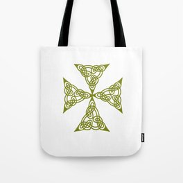 Lindisfarne St Johns Knot Grunge Tote Bag