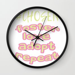 "Great Tee typography design saying ""Chosen"" and showing your the chosen one! Chosen, GIRLS CHOSEN Wall Clock"