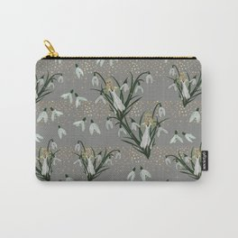 Lady Snowdrop on light grey Carry-All Pouch
