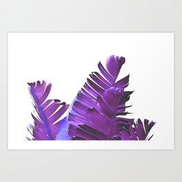 Banana Leaves (Purple) Art Print