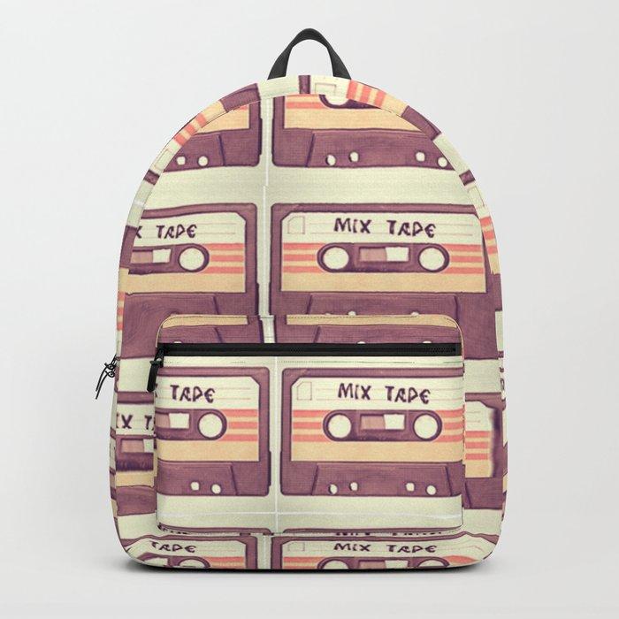 Retro Mix Tape Cassette Backpack