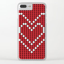 Valentine's Heart Clear iPhone Case