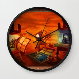 """Land Escape"" Wall Clock"