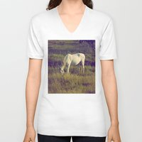 horses V-neck T-shirts featuring Horses by Pedro Antunes
