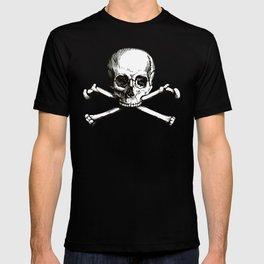 Skull and Crossbones | Jolly Roger | Pirate Flag | Black and White | T-shirt