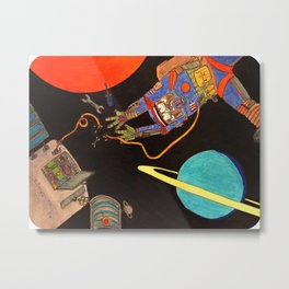 """You're Going to Die in Space!!"" Metal Print"