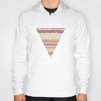 shapes Hoodies featuring Pattern by Sandra Dieckmann