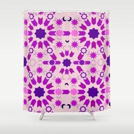 Purple Arabesque Shower Curtain