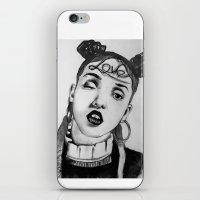 fka twigs iPhone & iPod Skins featuring FKA Twigs  by Lacsid
