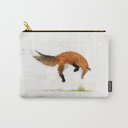 Jumping Jack Fox - animal watercolor painting Carry-All Pouch