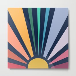 Rainbow Sunshine Metal Print