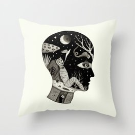 Distorted Recollection of a Dream About Death Throw Pillow