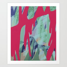 Bleeding Forest Art Print