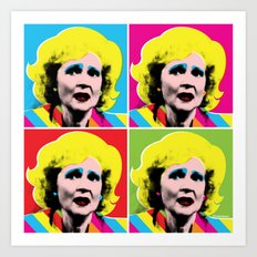 Rose Nylund x 4 by @ruralmodernist Art Print