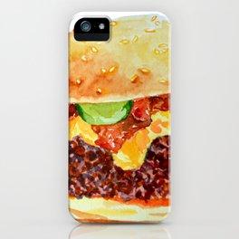Bacon Double Cheeseburger iPhone Case
