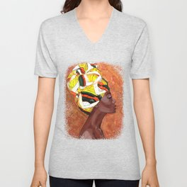African American Woman Unisex V-Neck