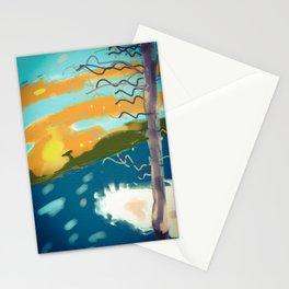 Winter sunset Stationery Cards