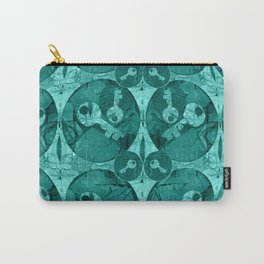 Keys in Aquamarine Bubble Carry-All Pouch