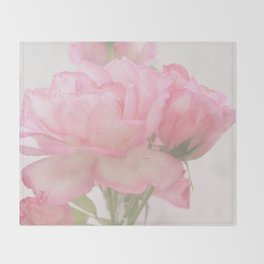 Gentleness - Soft Pink Rose #1 #decor #art #society6 Throw Blanket
