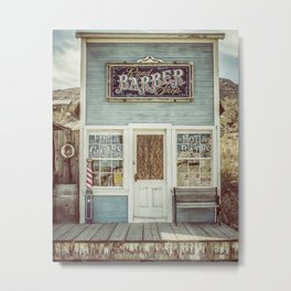 Country Barber Shop Metal Print
