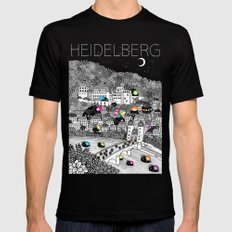 Locals Only - Heidelberg, Germany LARGE Black Mens Fitted Tee