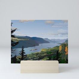 The Columbia River Gorge Mini Art Print