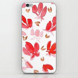 Tulips ,Flowers, Lovely, Rose Gold, Floral, Watercolor Tulips iPhone Skin