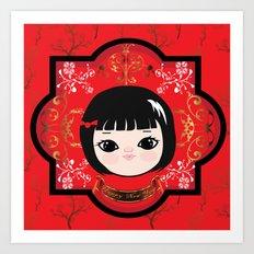 The Lunar New Year-Little girl Art Print