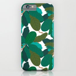 Tropicana Banana Leaves in Classic White iPhone Case